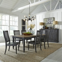 Harvest Home Dining Room Set in Chalkboard