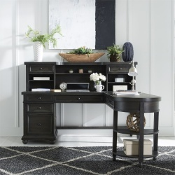 Harvest Home Office Desk Set in Charcoal