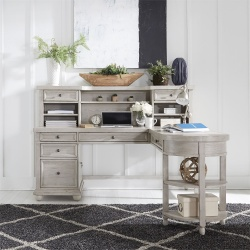 Harvest Home Office Desk Set in Cottonfield White