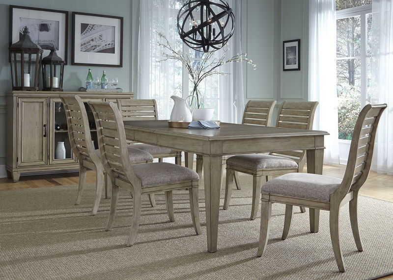 Grayton Grove Dining Room Set with Slat Back Upholstered Chairs