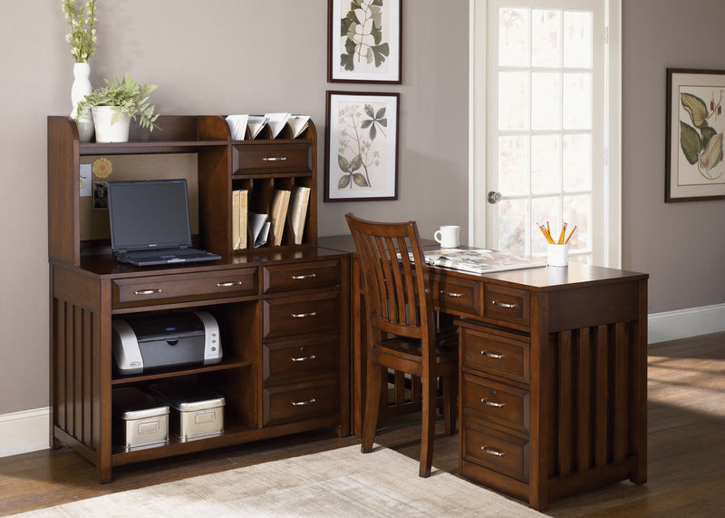 Hampton Bay Home Office Set in Cherry