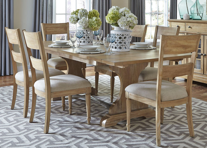 Harbor View Dining Room Set With Slat Back Chairs ...