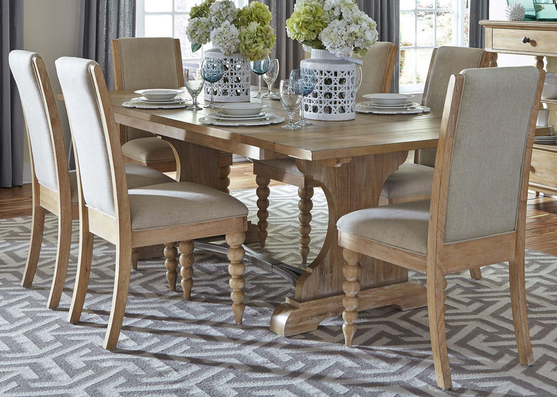 Liberty | 531-DR-O7TRS Harbor View Dining Room Set with Upholstered Chairs  | Dallas Designer Furniture