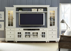 Harbor View Entertainment Center in Linen