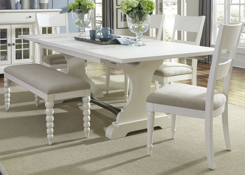 Magnificent Liberty 631 Dr 6Trs Harbor View Ii Dining Room Set With Slat Back Chairs And Bench Dallas Designer Furniture Caraccident5 Cool Chair Designs And Ideas Caraccident5Info