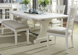 Harbor View II Dining Room Set with Slat Back Chairs and Bench