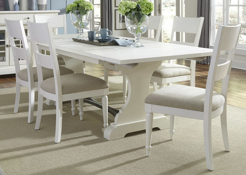 Harbor View II Dining Room Set with Slat Back Chairs