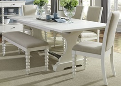 Harbor View II Dining Room Set with Upholstered Chairs and Bench