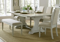Harbor View III Dining Room Set with Upholstered Chairs and Bench
