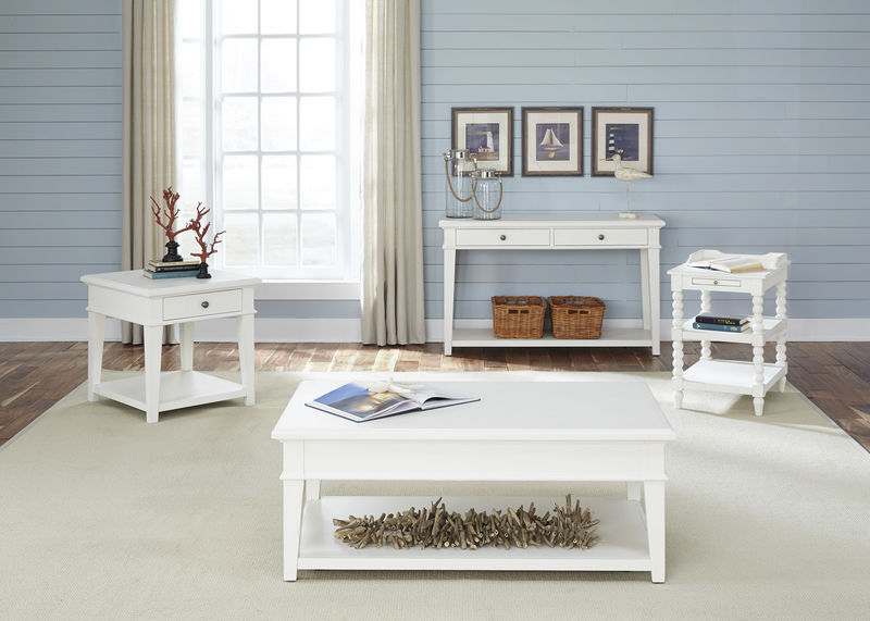 Harbor View Coffee Table Set in Linen