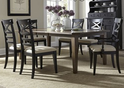 Hearthstone Dining Room Set with Black Chairs