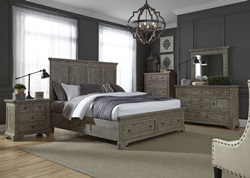 Highlands Bedroom Set with Two Sided Storage Bed