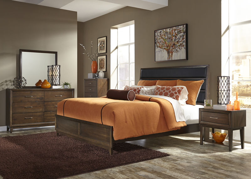 Hudson Square Bedroom Set in Black