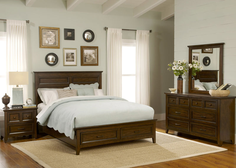 Laurel Creek Bedroom Set with Storage Bed