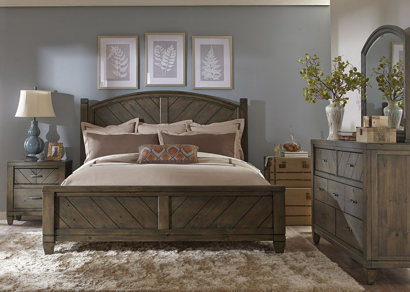 Modern Country Bedroom Set with Poster Bed
