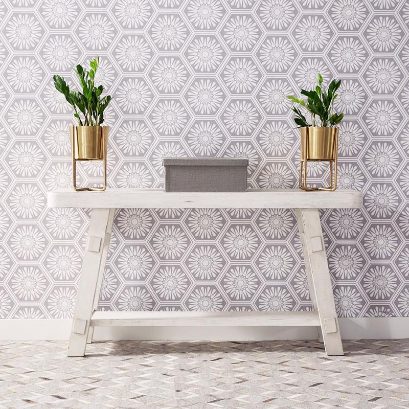 Modern Farmhouse White Sofa Table *Clearance*