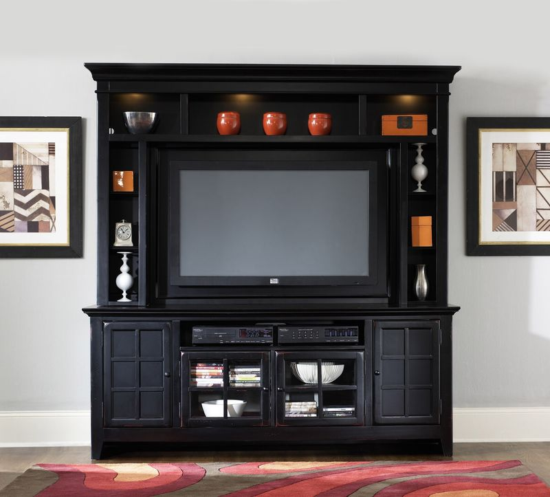 New Generation Entertainment Center in Black