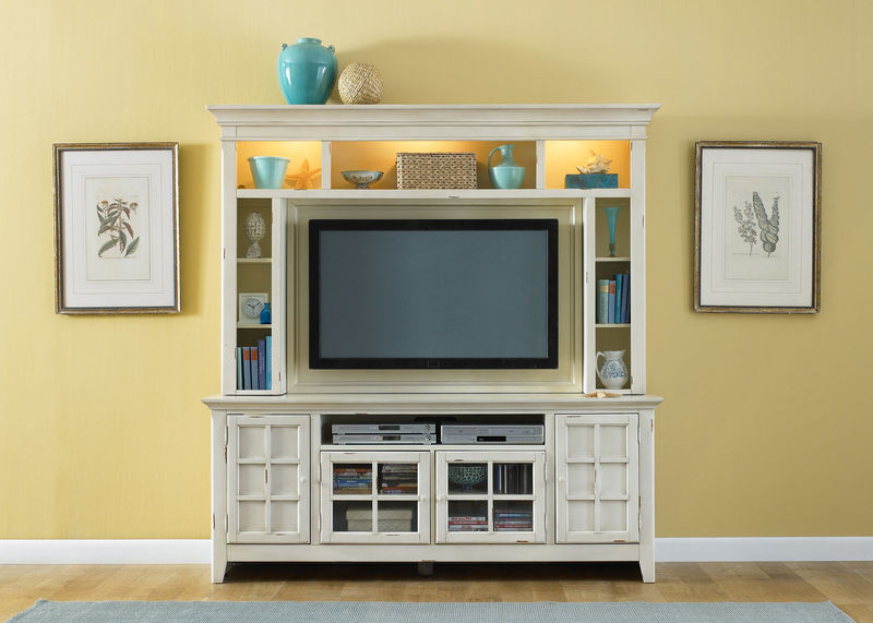 New Generation Entertainment Center in Cream