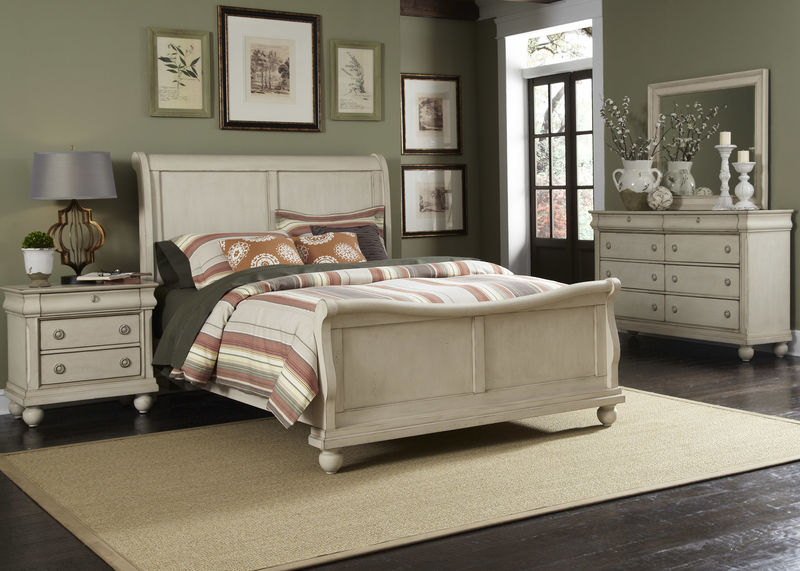 Rustic Traditions II Bedroom Set with Sleigh Bed