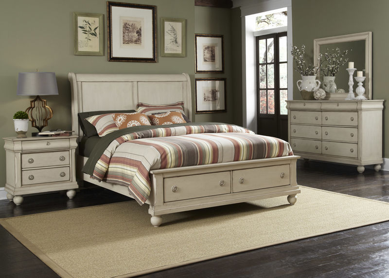 Rustic Traditions II Bedroom Set with Storage Bed