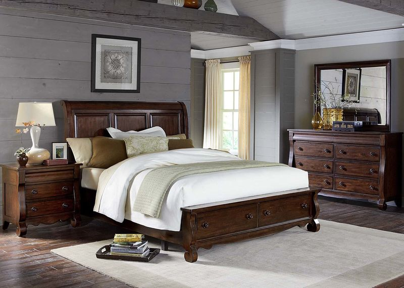 Sinclair Bedroom Set with Storage Bed