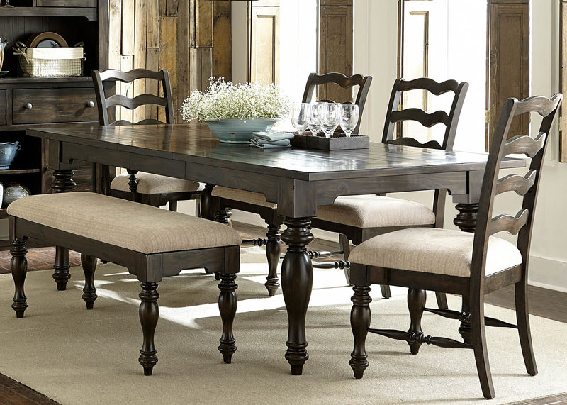 Southern Pines Dining Room Set with Bench