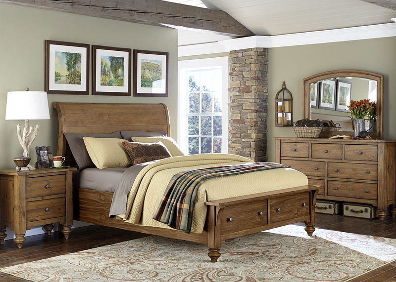 Southern Pines II Bedroom Set with Storage Bed