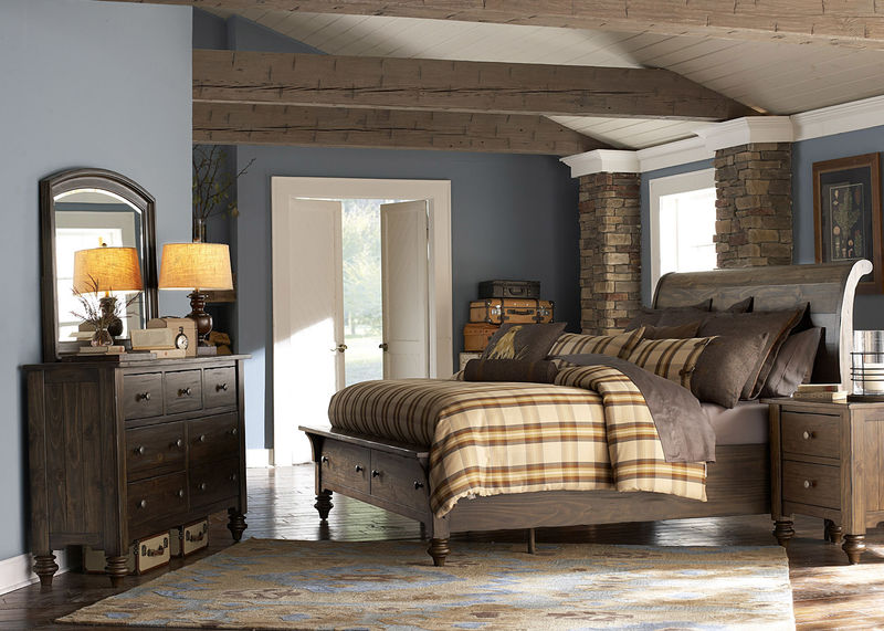 Southern Pines Bedroom Set with Storage Bed
