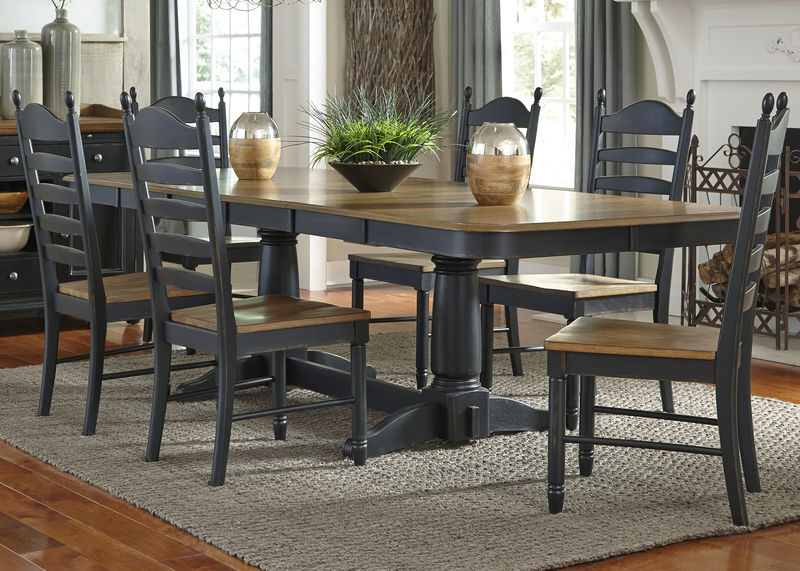 Springfield Dining Room Set in Honey/Black