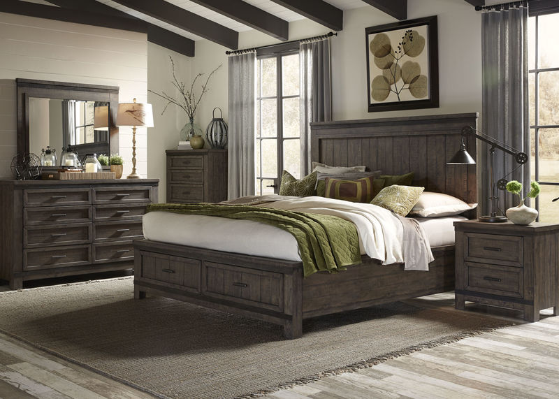Thornwood Hills Bedroom Set with Storage Bed