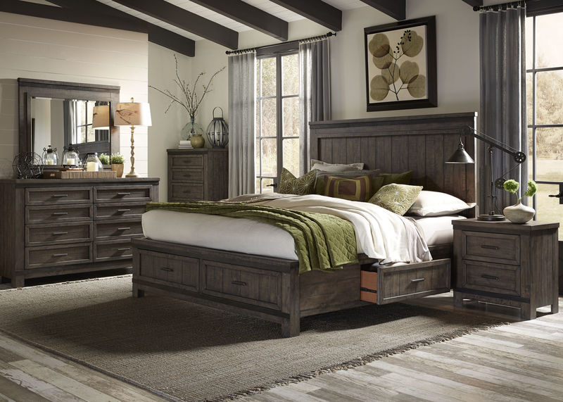 Thornwood Hills Bedroom Set with Two Sided Storage Bed