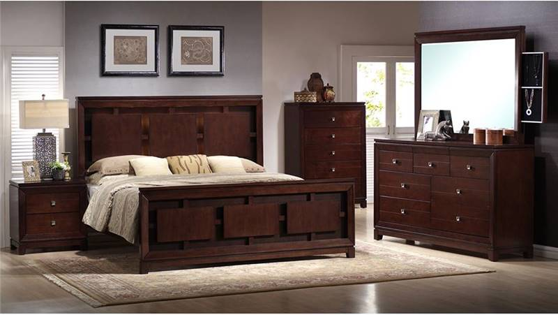 Elements Ln600 London Bedroom Set With Mood Lighting