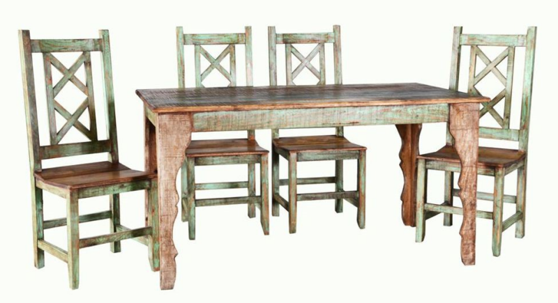 Cabana Multicolor Rustic Dining Room Set - 2 Sizes