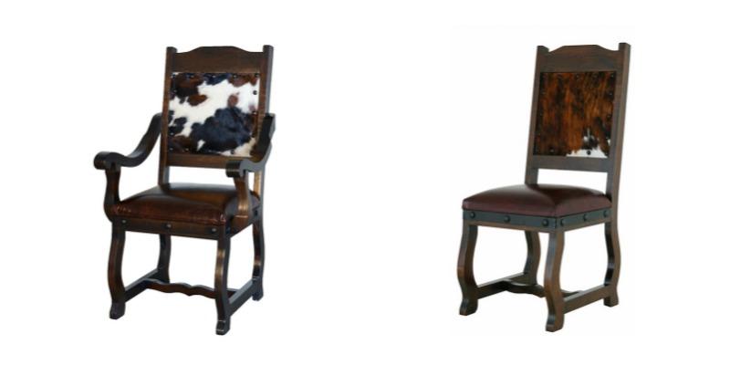 Gran Hacienda Pedestal Table with Cowhide Chairs