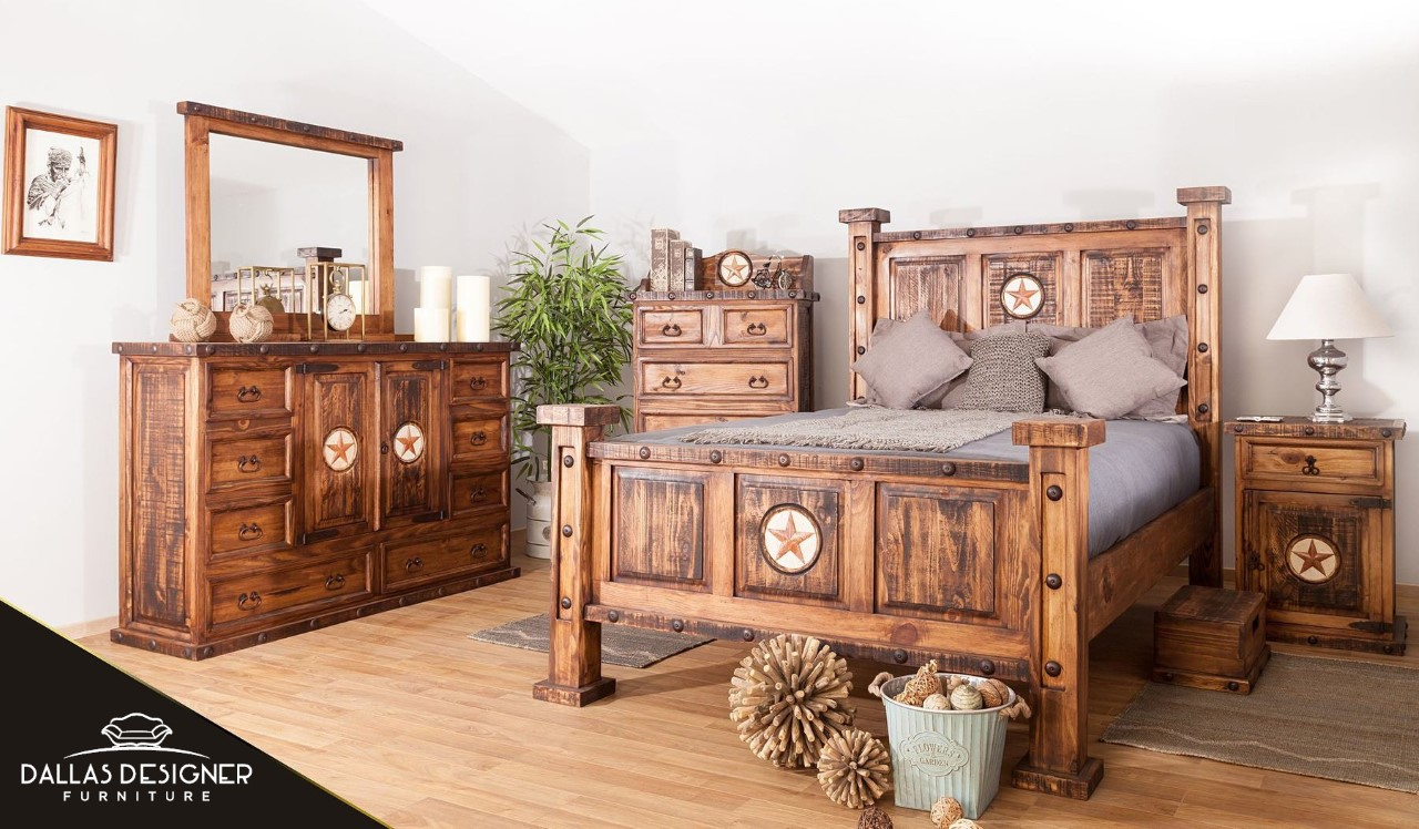 Laredo Rustic Bedroom Set with Star