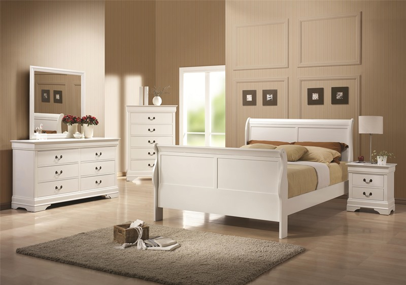 Louis Philippe Bedroom Set in White
