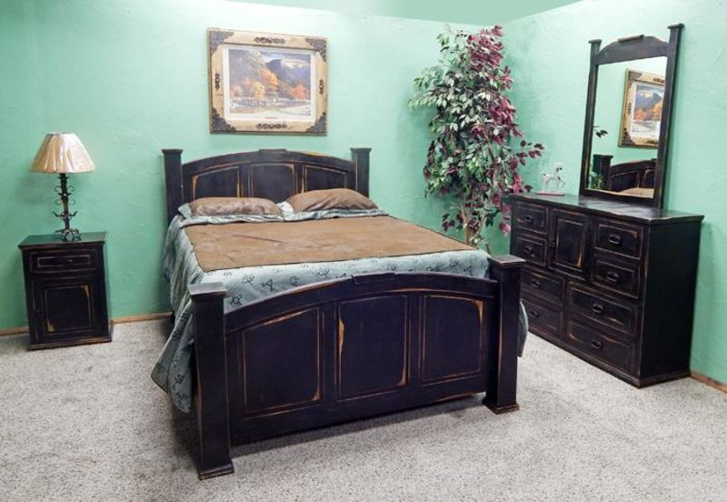 Stone Brown Rustic Bedroom Set