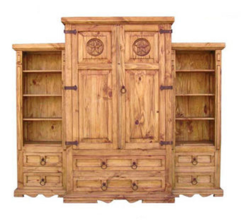 Rustic 3 Piece Wall Armoire