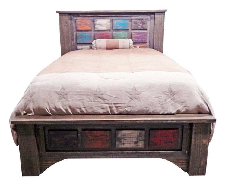 Arco Rustic Multicolor Bedroom Set
