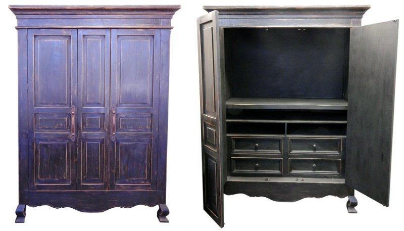 Stone Brown Rustic Armoire
