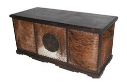 Cowhide Rustic Desk