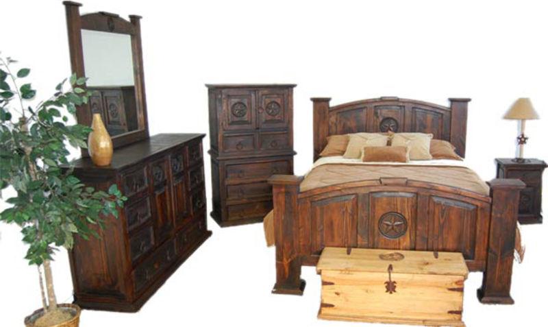 Dark Mansion Rustic Bedroom Set with Stars
