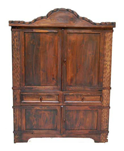Dark Rope Rustic Armoire