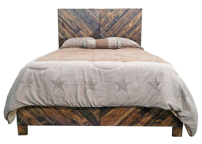Diagonal Rustic Bedroom Set