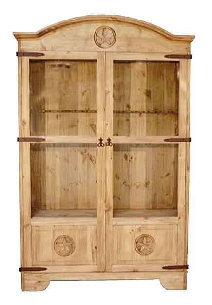 Rustic Gun Cabinet with Star