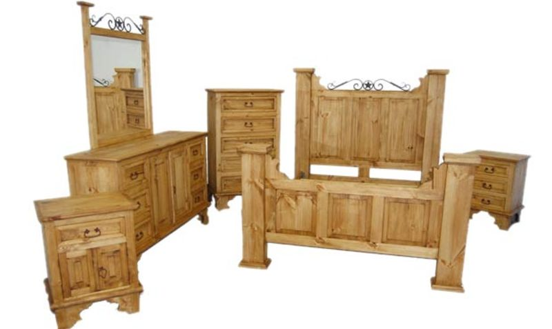 Hacienda Rustic Bedroom Set