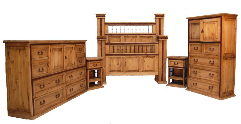 Hierro Rustic Bedroom Set
