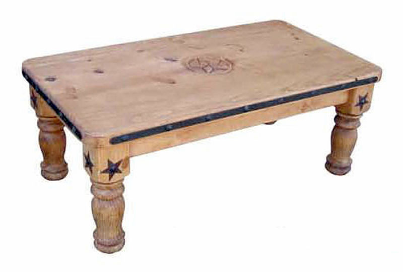 Iron Accent Rustic Coffee Table Set