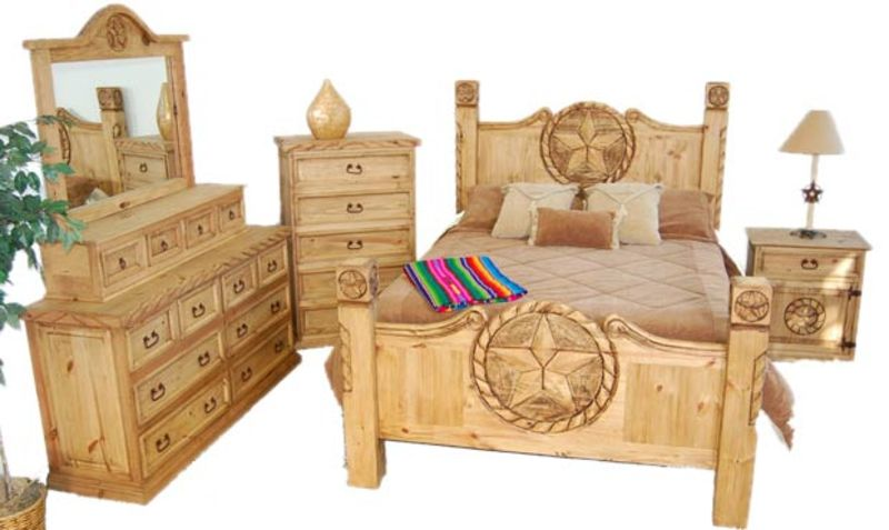 Lone Star Rustic Bedroom Set