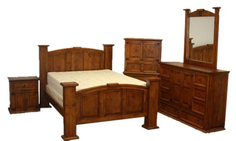 Mansion Estate Style Rustic Bedroom Set